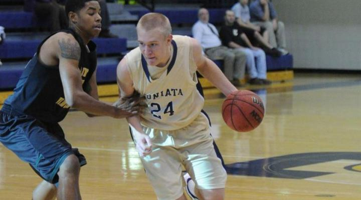 Juniata MBB shoots its way past the Rangers, 74-66