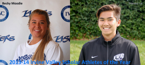 Becky Moodie and Steven Le named scholar athletes of year