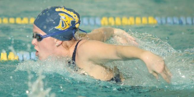 Swimming Diving Falls To Wellesley 171 96 Simmons College