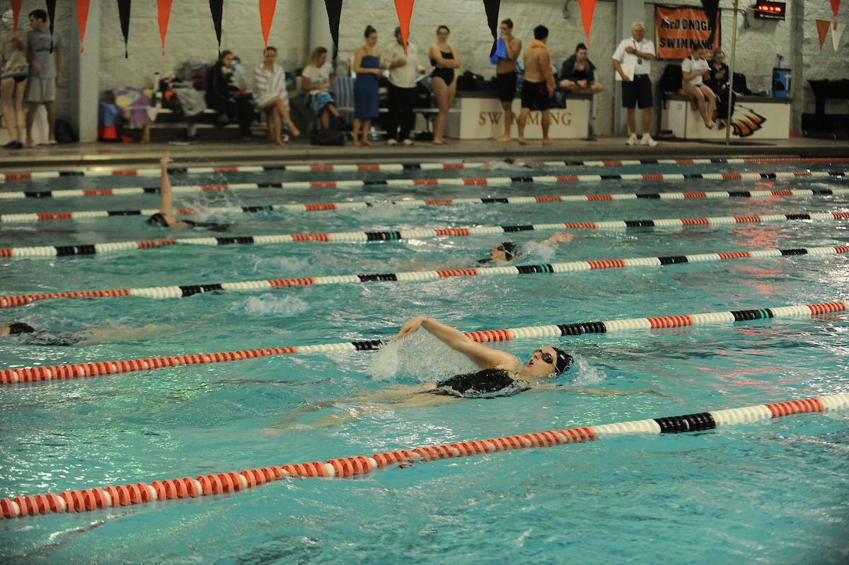 Stein Wins Two Events, Women's Swimming Falls to Widener in Season Opener