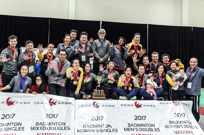 OCAA Sweeps CCAA Badminton National Championships