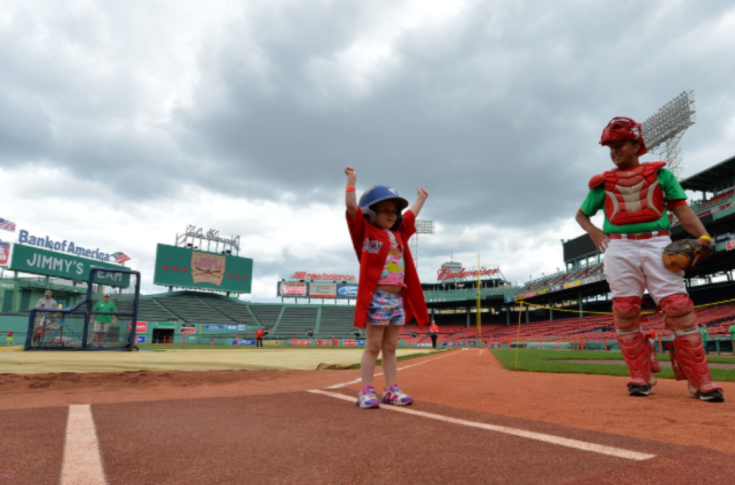Baseball: Head Coach Anthony Perry volunteers at Fenway Fantasy Day