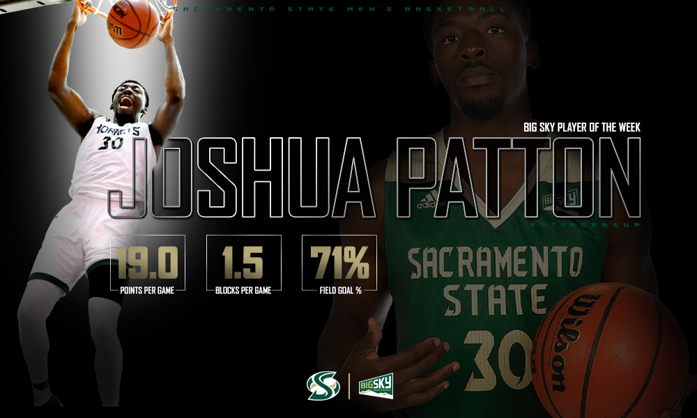 PATTON NAMED BIG SKY MEN'S BASKETBALL PLAYER OF THE WEEK