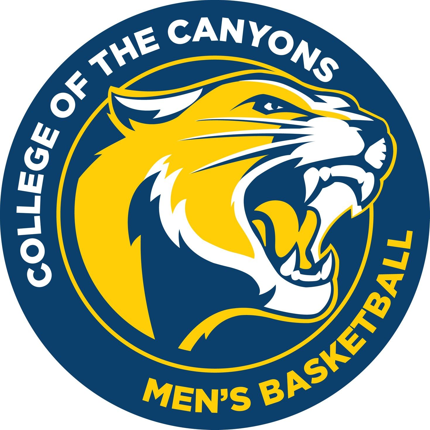 College of the Canyons men's basketball logo.