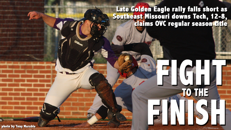 Redhawks hold off late Tech rally, defeat Golden Eagles 12-8