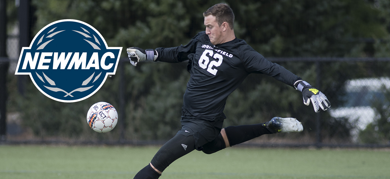 Frank Named NEWMAC Men's Soccer Defensive Athlete of the Week
