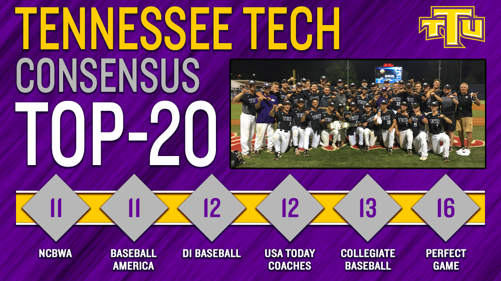 Tech baseball caps historic 2018 campaign ranked 11th nationally