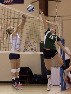 Lesley University Women's Volleyball Wins 2010 NECC Title
