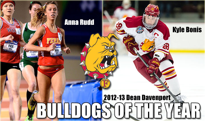 "Kyle Bonis & Anna Rudd Chosen As Ferris State's 2012-13 Dean Davenport ""Bulldog of the Year"" Award Winners"