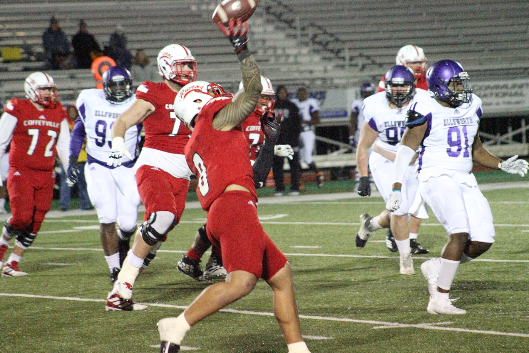Red Raven Football Finishes Season Strong, Beats Ellsworth 30-13 in Homecoming Game