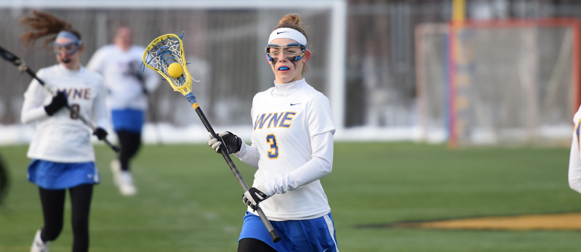 Freshman Reilly Miller recorded a season-high six points in Western New England's 14-9 win over Husson on Thursday. (Photo by Rachael Margossian)