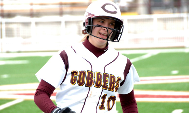 Senior Kellie Morehouse had a pair of hits and drove in a run in the Cobbers' season opener at Embry-Riddle.
