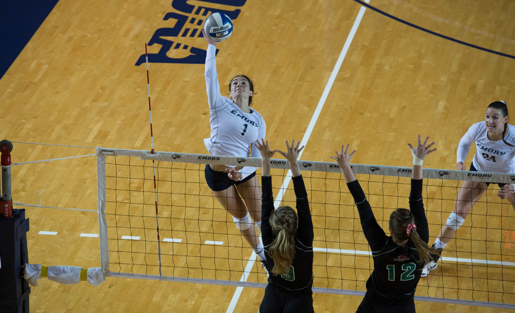 Emory Volleyball Falls In Four To Washington University In UAA Championships Match