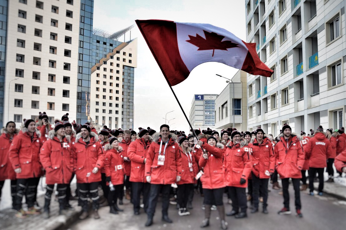 Team Canada in Almaty, Kazakhstan for the 2017 Winter Universiade Games