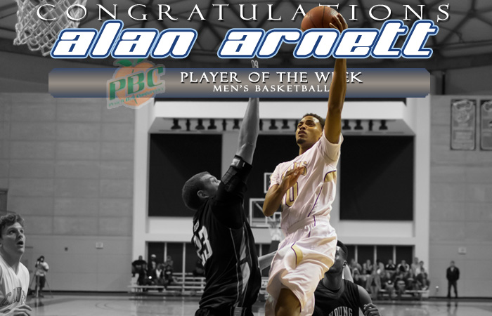Arnett Named Peach Belt Player Of The Week