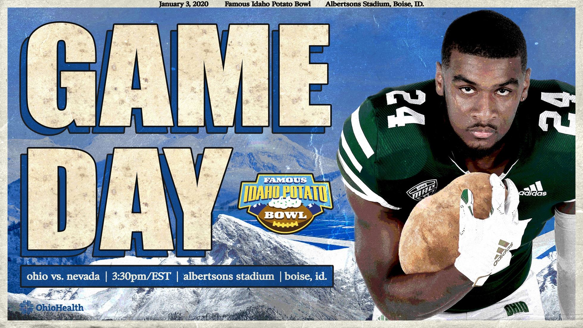 Game Day in Boise: Ohio Football Battles Nevada This Afternoon in 23rd Famous Idaho Potato Bowl