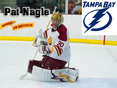 NHL's Tampa Bay Lightning Sign Bulldog Goaltender Pat Nagle