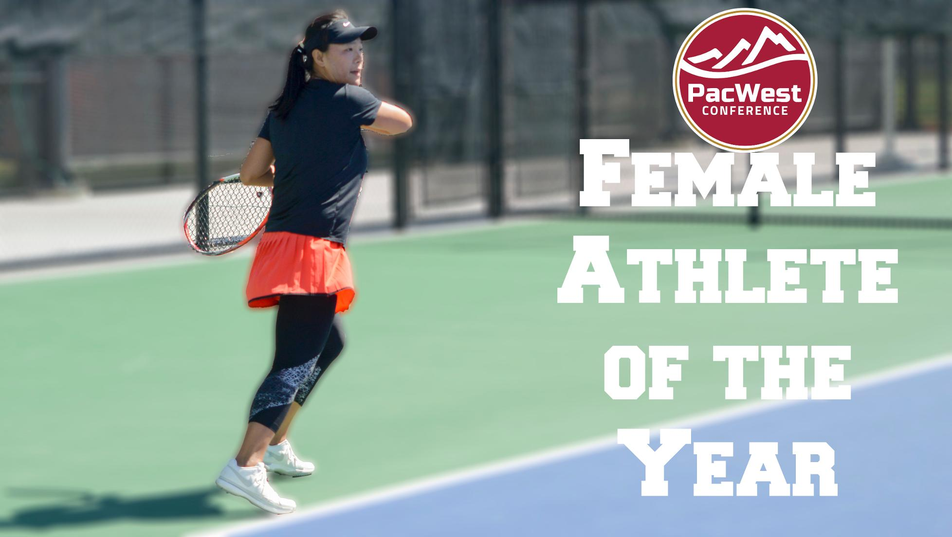 Zhang named PacWest Female Athlete of the Year