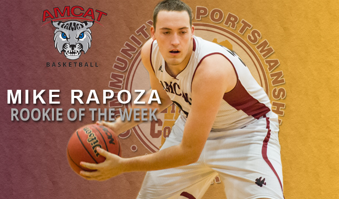 Mike Rapoza Named GNAC Rookie of the Week for the Third Time