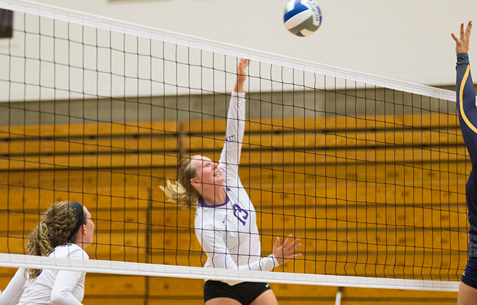 Women's volleyball falls at Bentley during NE-10 action