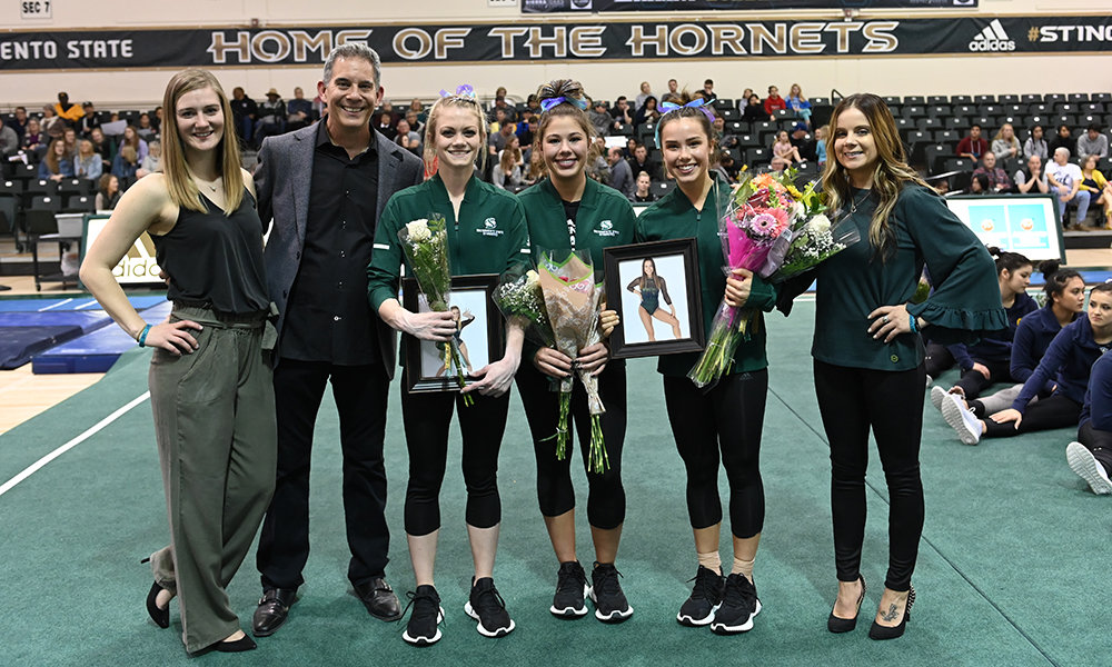 GYMMASTICS RELIES ON SENIORS IN FINAL HOME MEET OF THE SEASON