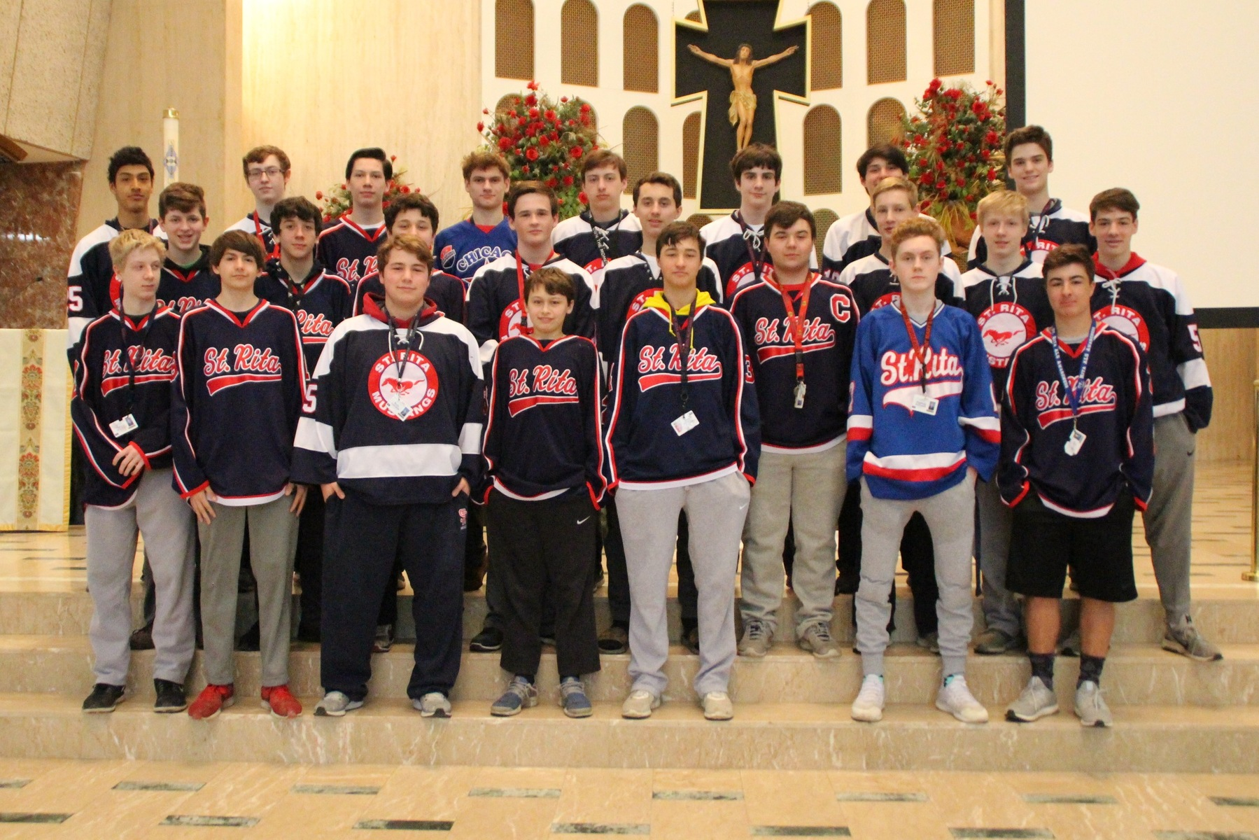 "St. Rita Hockey Players Participate in ""Jersey Day"" to Honor Humboldt Broncos Bus Crash Victims"