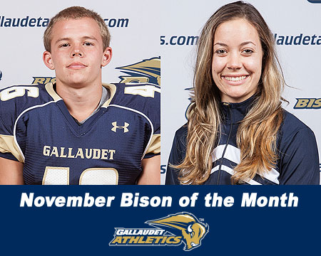 Nick Elstad and Lane Peters named November Bison of the Month