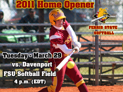 Softball Home Opener Set For March 29