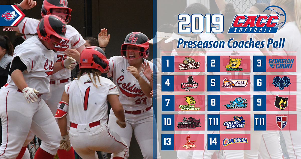 Two-Time Defending Champ Caldwell Sits Atop 2019 CACC Softball Preseason Coaches Poll