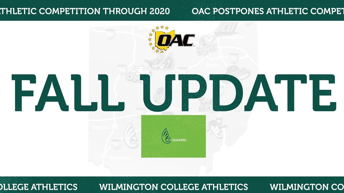 OAC Postpones Athletic Competition Through the Rest of the 2020 Calendar Year