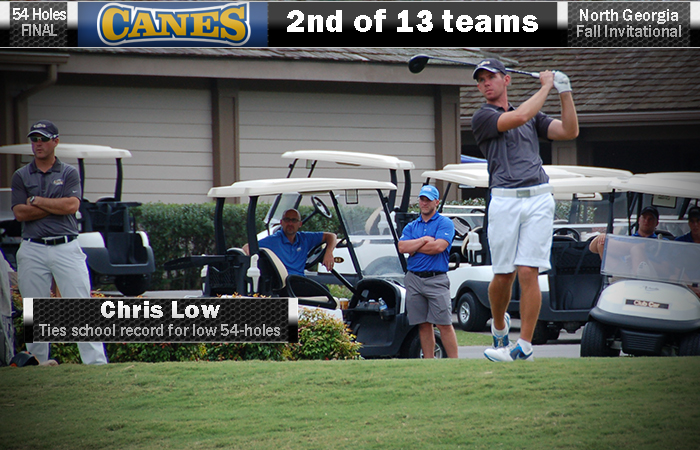 Low Forces Playoff For Individual Title, 'Canes Runner-Up At North Georgia Invite