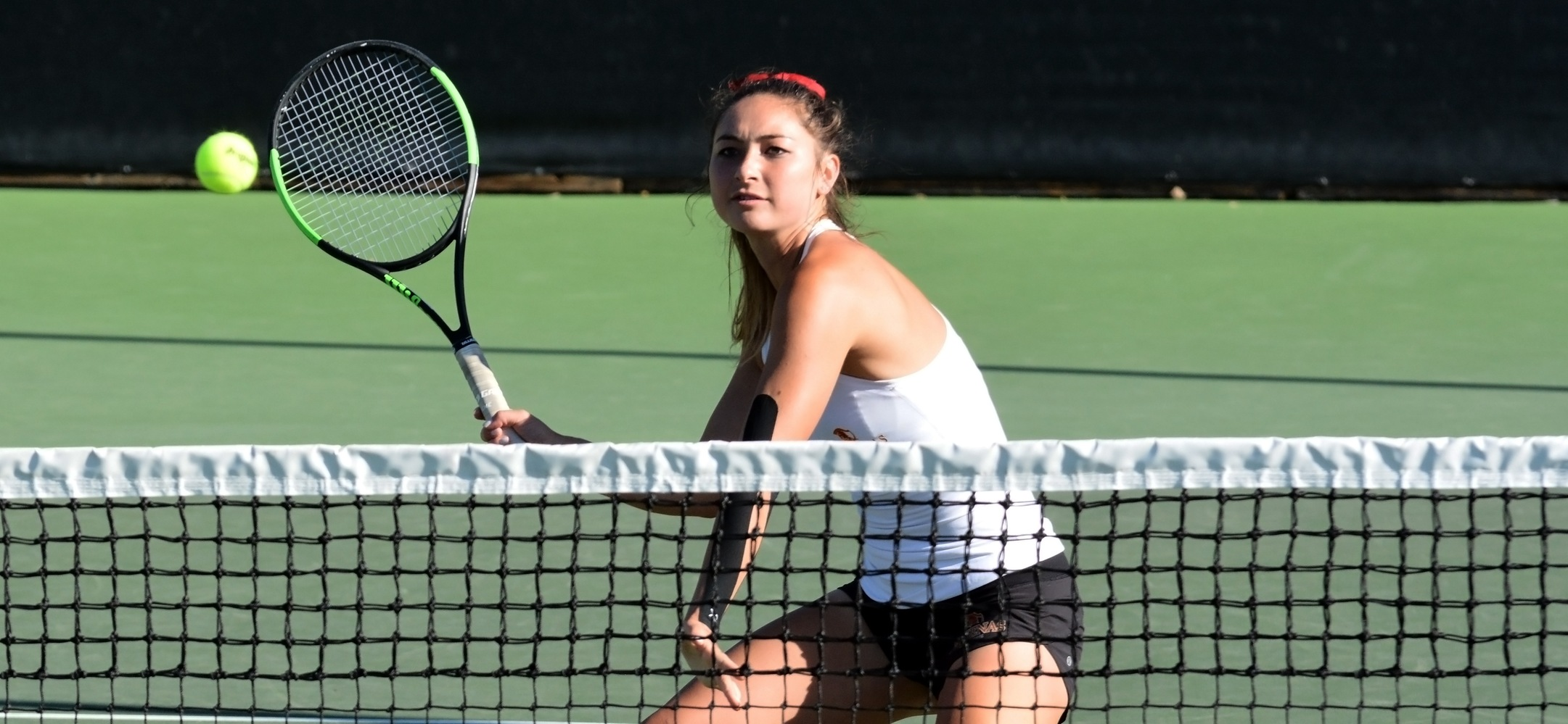 Catherine Allen was part of an 8-7 comeback win in doubles, and then took a 6-0, 6-2 win in singles