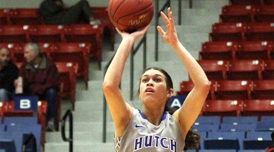 Sophomore Brooklyn Betham scores a career-high 18 points, but Cowley upsets the No. 4 Blue Dragons 72-70 on Saturday in Arkansas City. (Nathan Addis/Blue Dragon Sports Information)