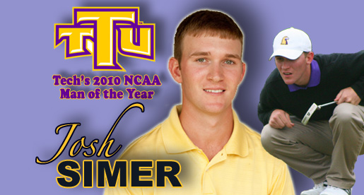 Golfer Josh Simer picked as Tech's NCAA Man of the Year