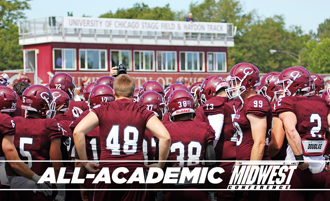 UChicago Football Leads Midwest Conference with 39 All-Academic Selections