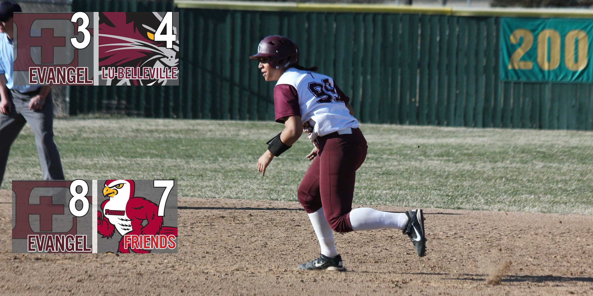 Late Comeback Gives Evangel Split on Day One of Classic