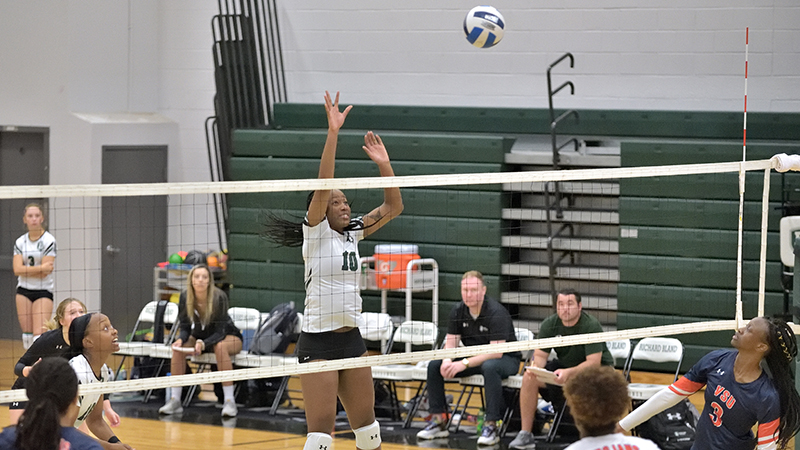 Home Crowd Energizes Women's Volleyball to a Win