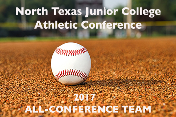 2017 NTJCAC All-Conference Baseball Team