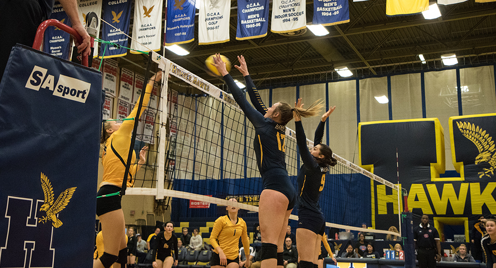 No. 2 HAWKS RALLY TO DEFEAT CAMBRIAN IN FOUR SETS
