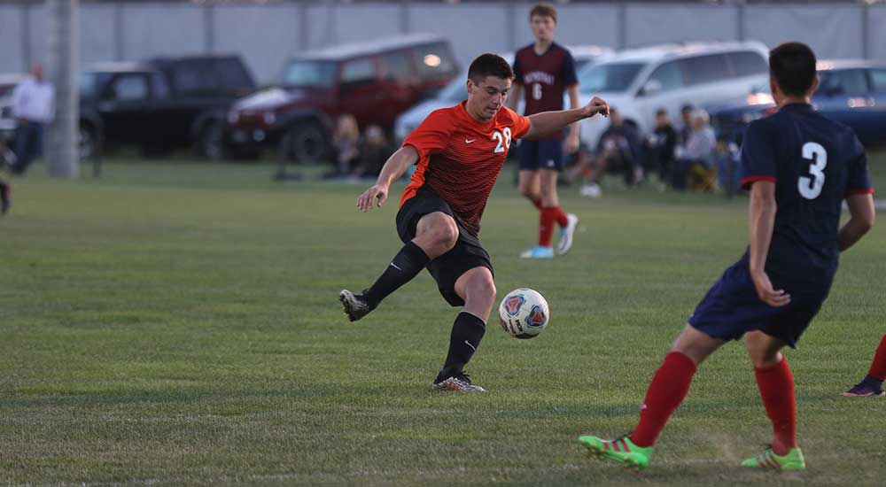 Men's soccer scores twice, falls to Westminster