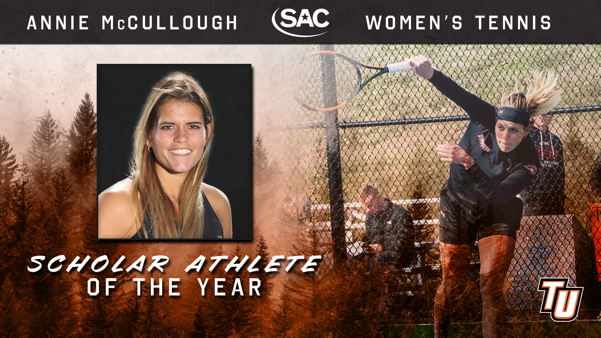 Annie McCullough repeats as SAC Scholar Athlete of the Year