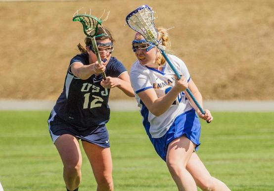 SAINTS ROLL PAST BLUE JAYS, 20-8, IN FIRST WOMEN'S LACROSSE PLAY-OFF VICTORY