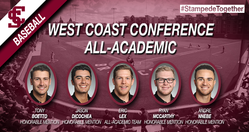 Baseball Quintet Recognized with WCC All-Academic Honors
