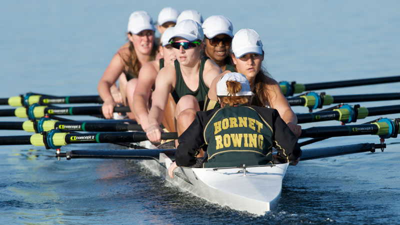 Rowing Places First in Three Races Against San Diego State