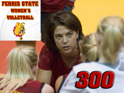 Volleyball Head Coach Tia Brandel-Wilhelm Earns 300th Win At Ferris State