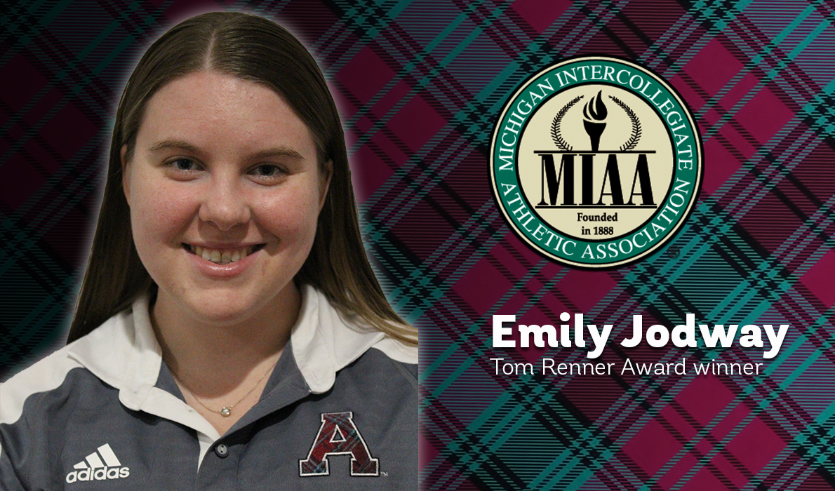 Jodway Receives Renner Award as Top Student Worker in MIAA