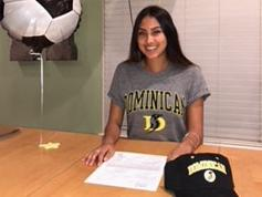 Lexi Martinez signs with Dominican University.