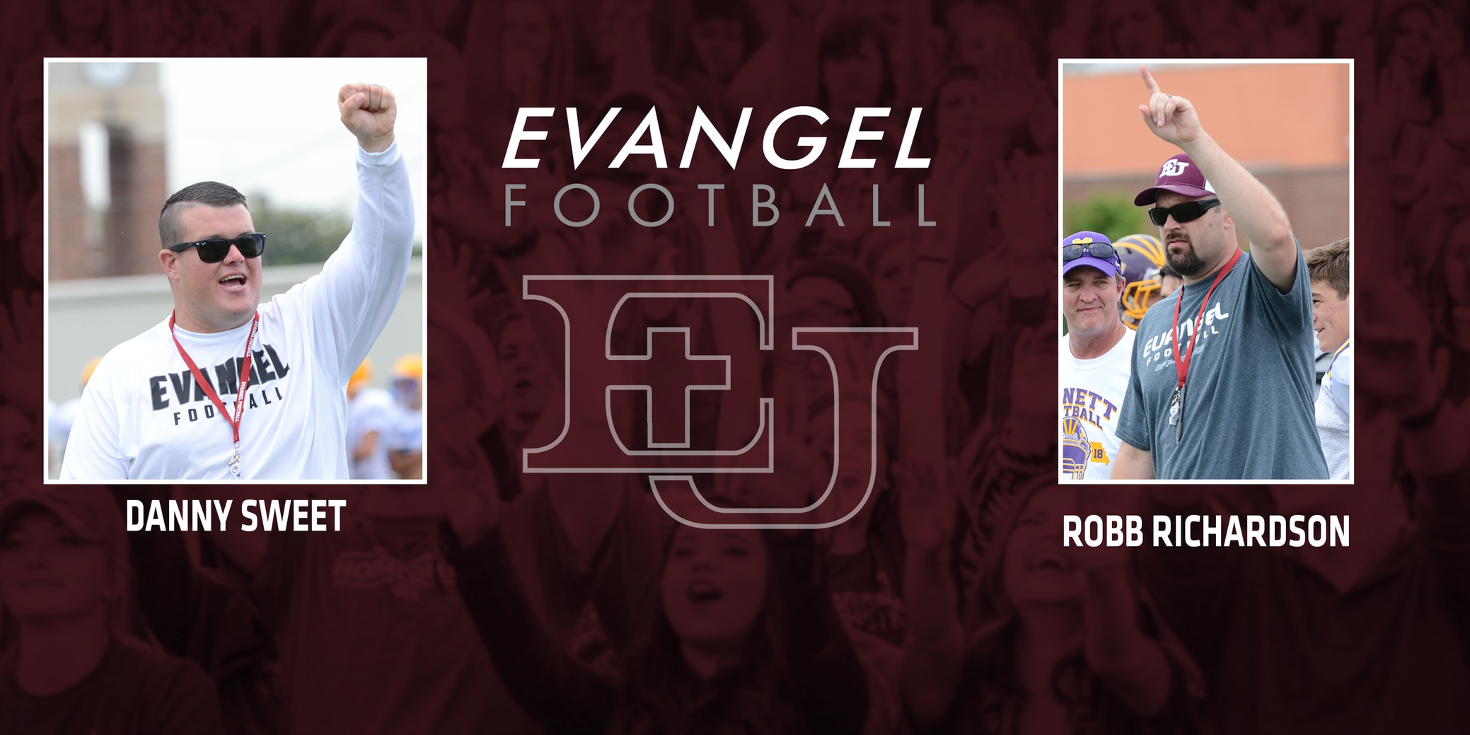 Evangel Football Adds Former Players Richardson and Sweet to Coaching Staff