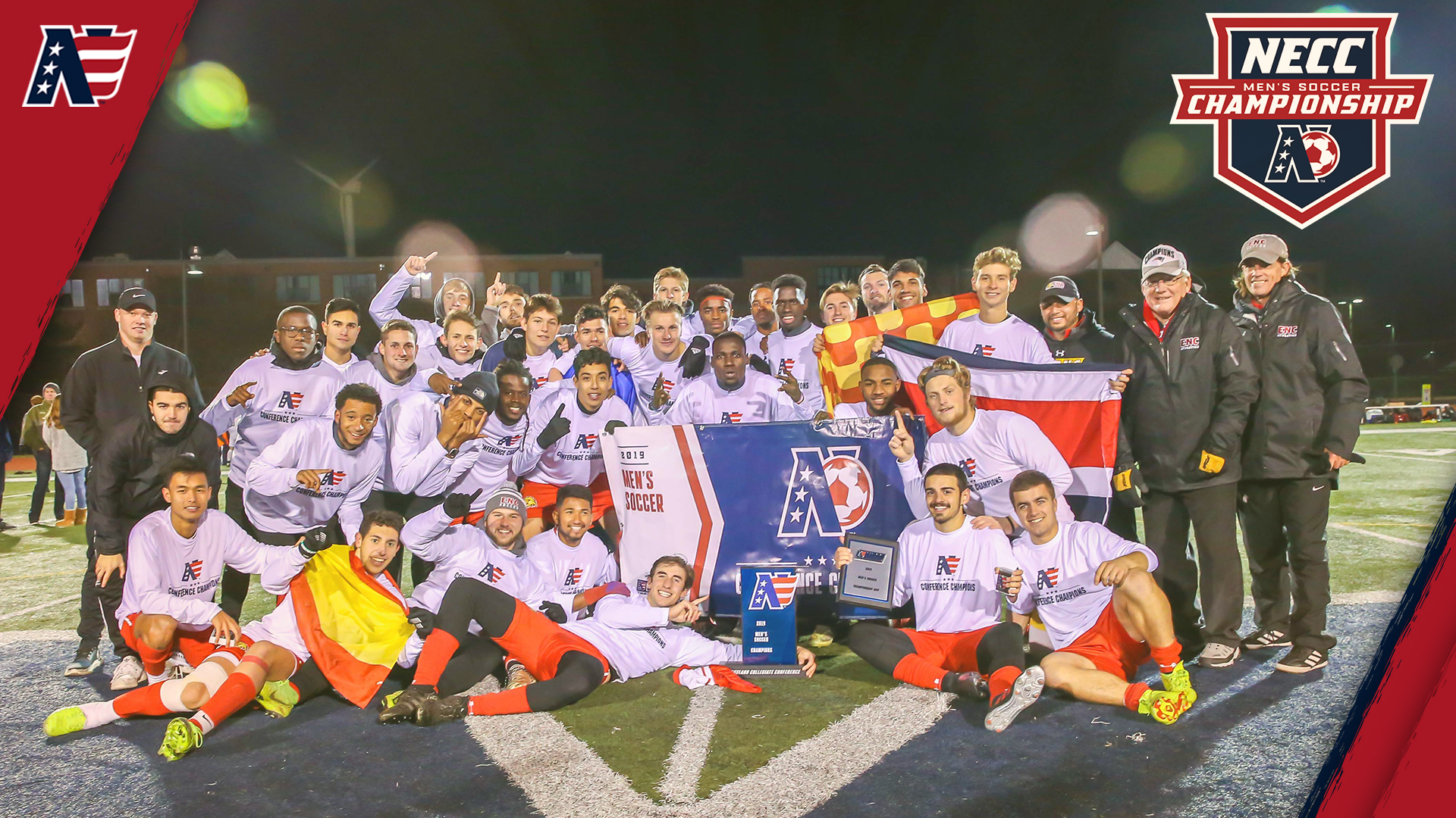 Eastern Nazarene Captures NECC Men's Soccer Championship With 3-1 Victory at Lesley