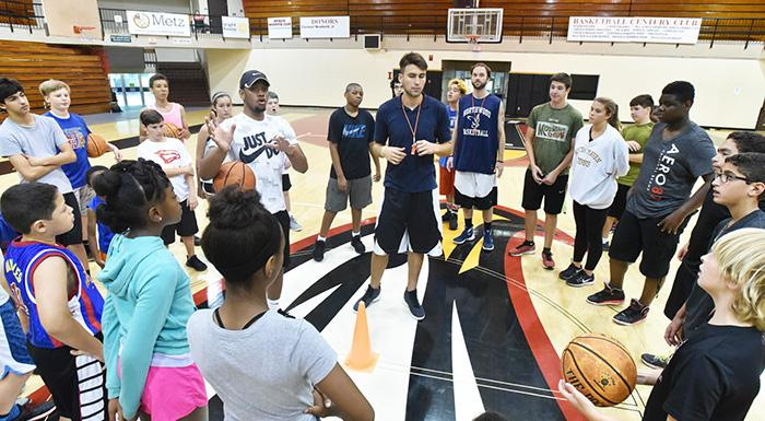 Polk State offers two summer basketball camps for boys and girls in grades one through nine. (Photo by Tom Hagerty, Polk State.)